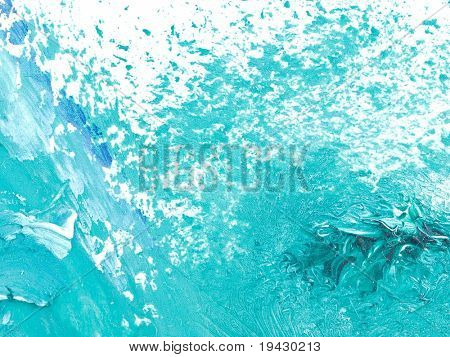 water splash like high magnification oil painting texture.