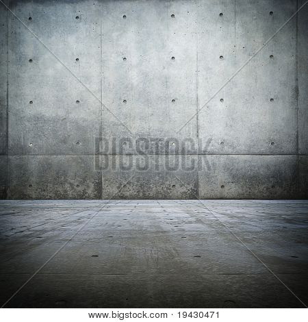 Grunge bare concrete room