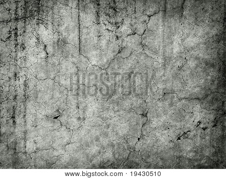 Grungy old wall in monotone