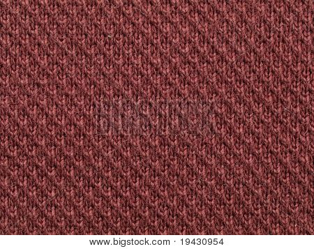 Dark red knit cloth texture