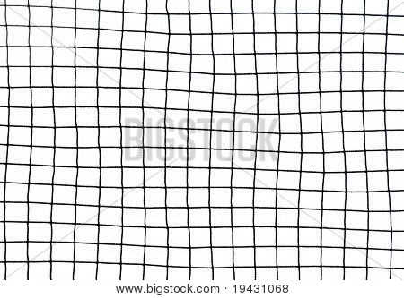 black soccer net texture isolated on white