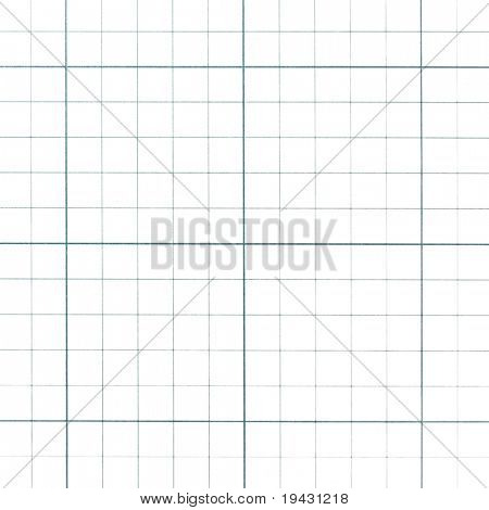 Graph paper grid isolated on white.