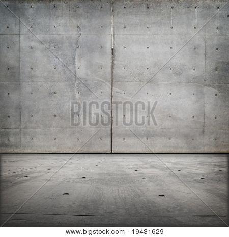 Bare concrete grungy room