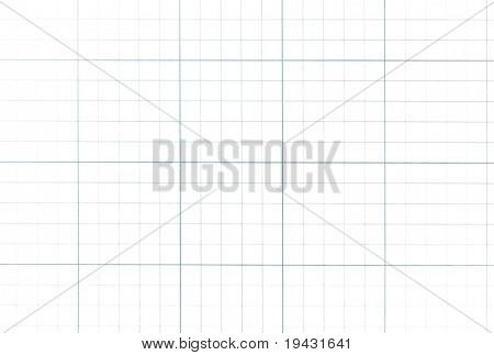 Graph paper grid isolated on pure white.