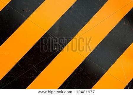 Yellow and black construction pattern. Actual photo.