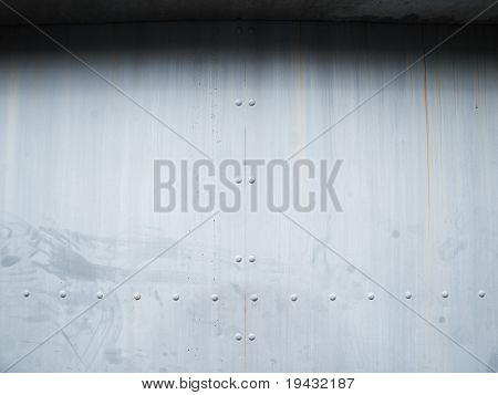 heavy duty steel door.