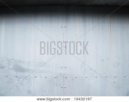 heavy duty steel door.