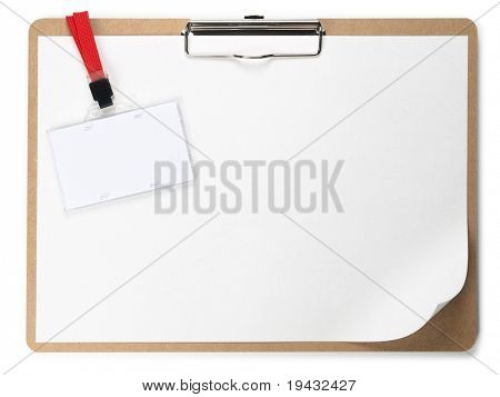 Clipboard and ID card