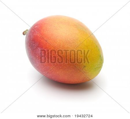 Mango, Beautifully ripened, isolated on white.