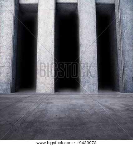 Monument like stone room with columns