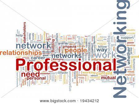 Ilustração de wordcloud de conceito de fundo de networking profissional