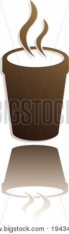 hot beverage in styrofoam cup symbol