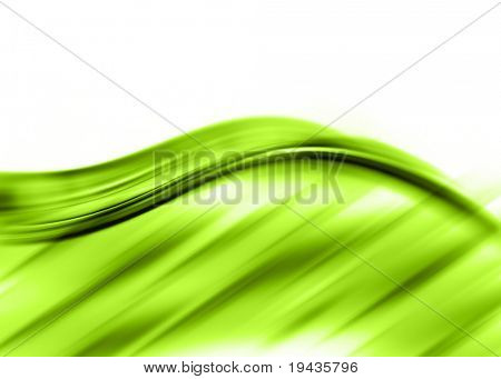 green abstract composition