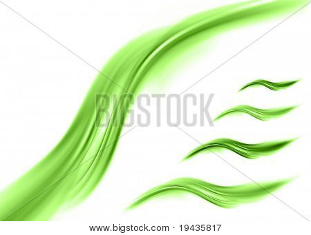 green abstract composition elements