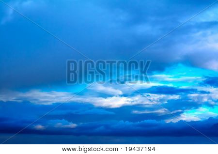 blue sky - dramatic cloud formations