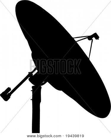 antenna dish vector