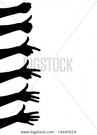 counting hands vector