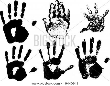 stamp of hands vector