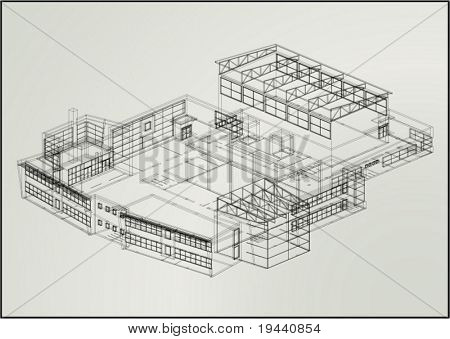 3D technical draw