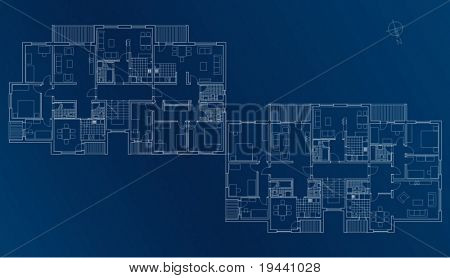 Blueprint Plan der Decke