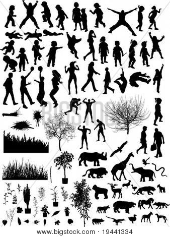 many different silhouette