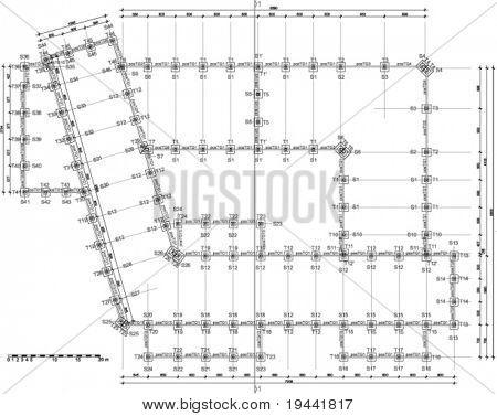 acima Vista empate técnico - plano arquitectónico