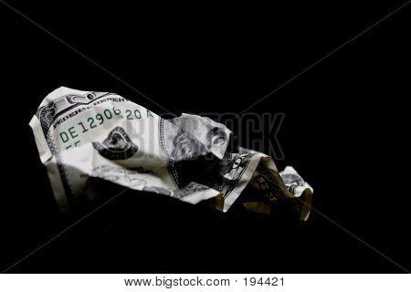 Crumpled Hundred Dollar Bill