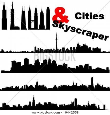 Städte und Wolkenkratzer