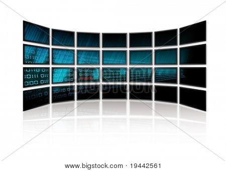 Binary Code on tv screens