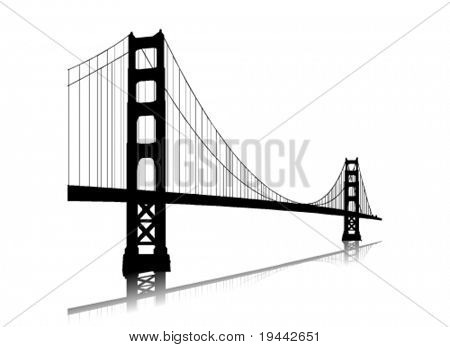 Vektor, die golden Gate bridge