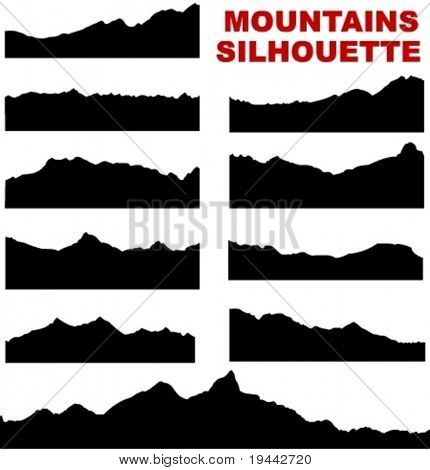 Mountain vector silhouettes (eg. Mount Everest)