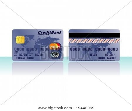Credit Card in Blue (for other colors look in my portfolio)