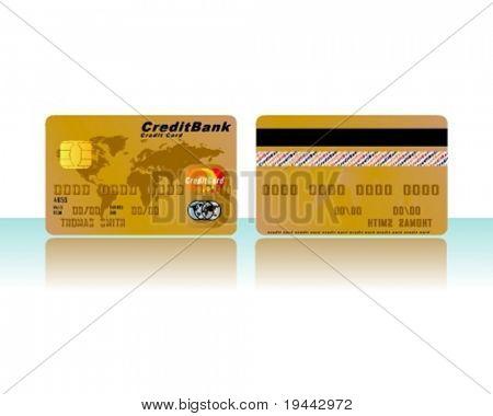 Tarjeta de crédito en oro (para otro colores ver en mi portfolio)