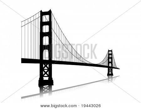 Puente de la puerta de oro del vector