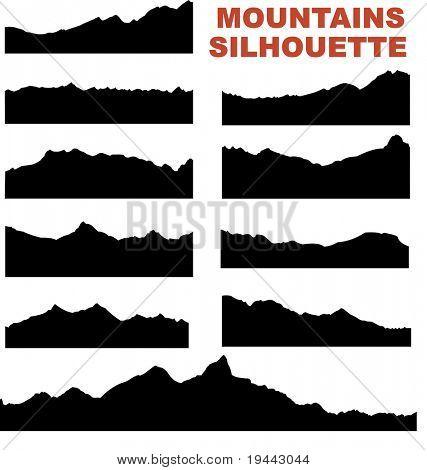 Mountain vector silhouettes (eg. Mount Everest)
