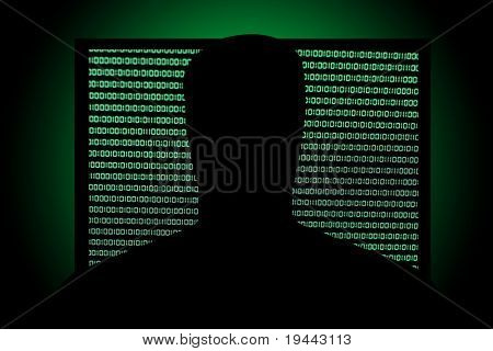 Hack in front of Binary Code in Screen