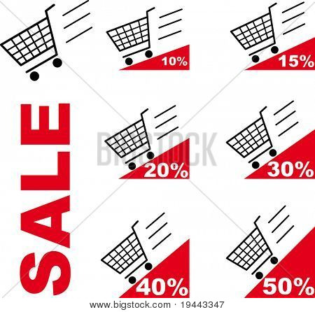 Sale Shopping cart
