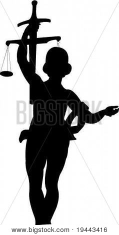 Justice/justitia silhouette