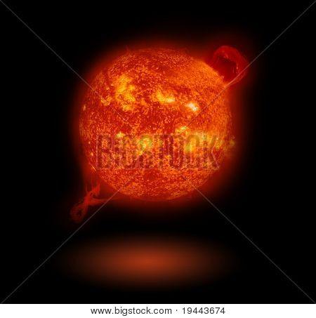 Sun isolated on black
