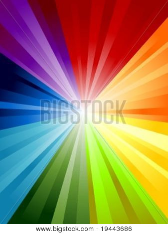 Rainbow Background in Vector art.