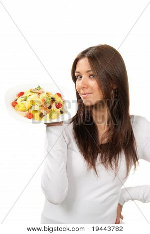 Healthy Food Concept Woman With Pasta