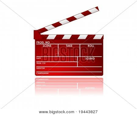 red Clapboard in vector design
