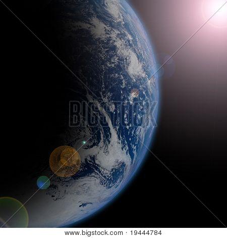 Planetenerde im Weltall