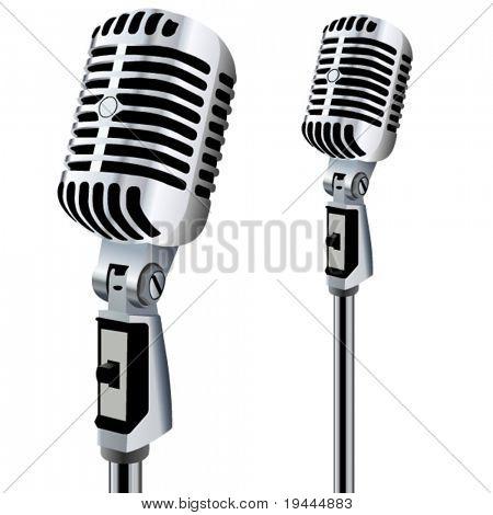retro Microphone in bearbeitbare Vector design