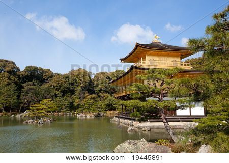 Kinkakuji Temple, aka The Golden Pavilion, in Kyoto - Japan
