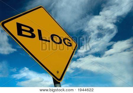 Ein Blog-Zeichen