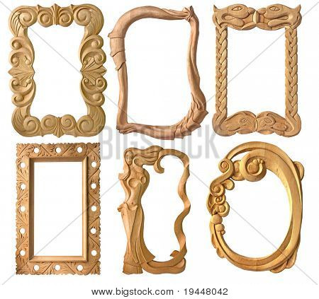 Antique carved frame collection, add your own text or pictures