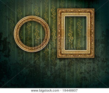 marco antiguo oro