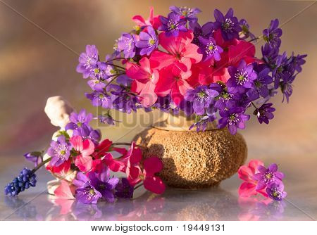 bouquet of spring flowers, cards
