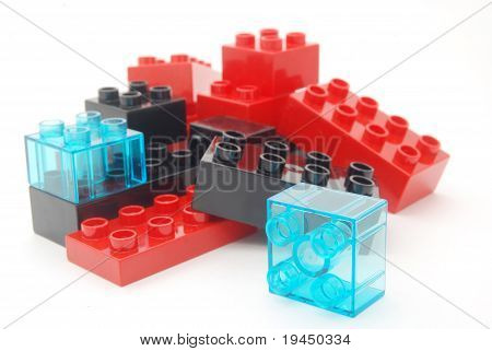 Colourful toy blocks